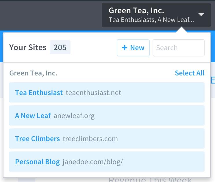Organizations Site Picker