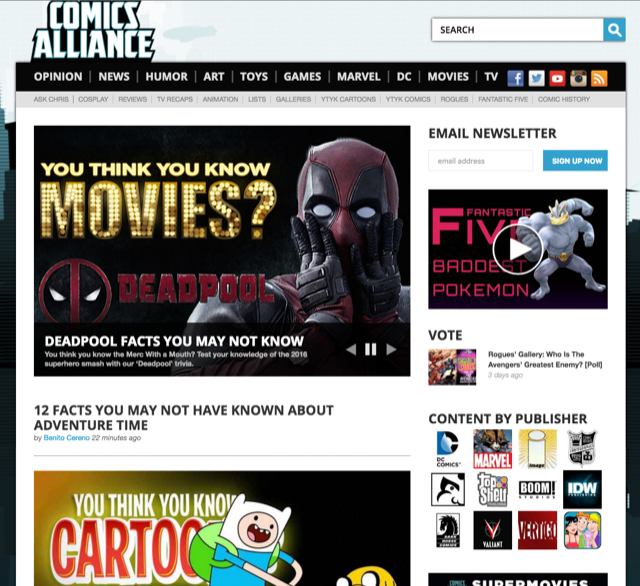 Best comic sites