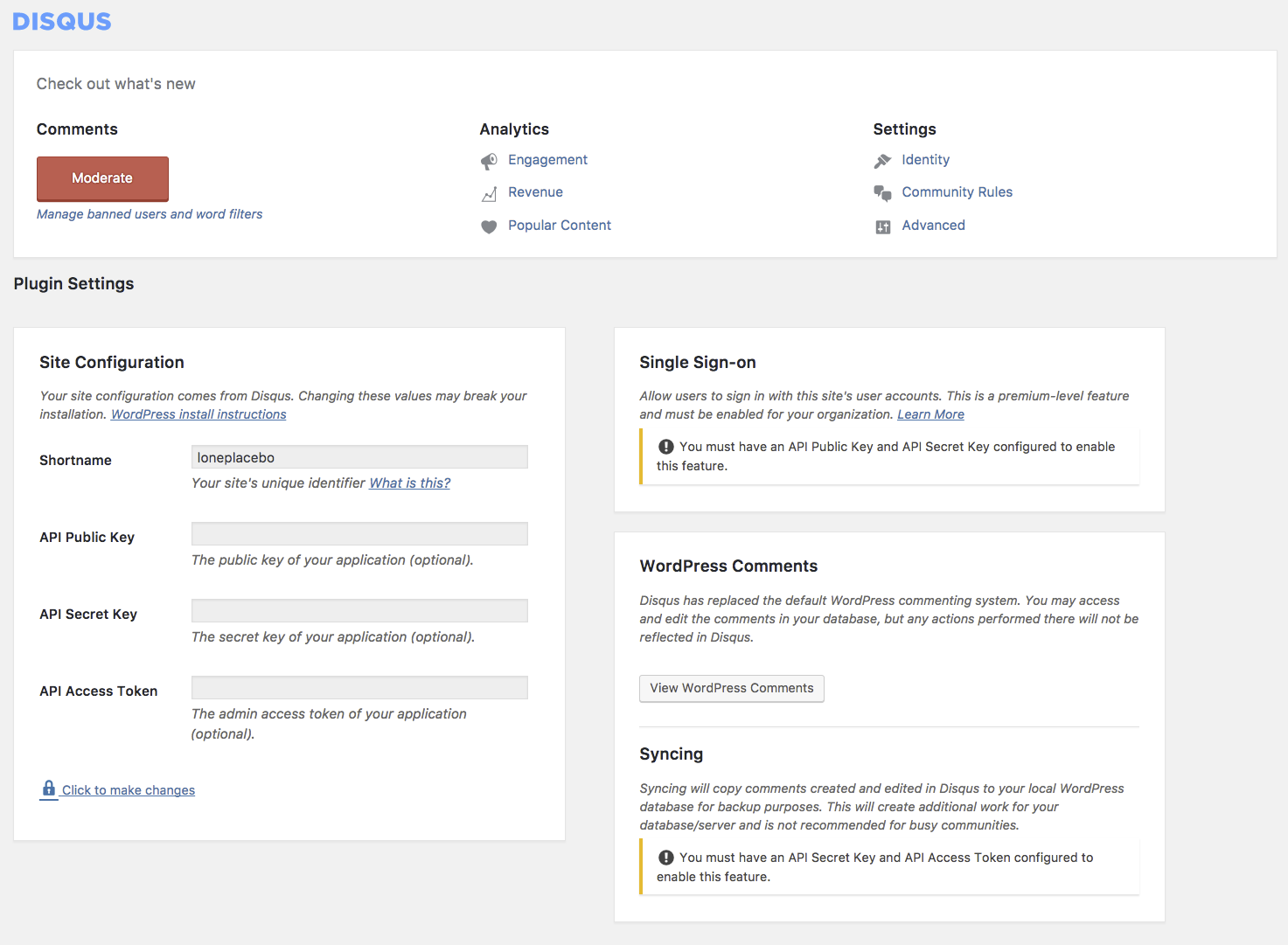 disqus-wordpress=plugin-settings-page.png