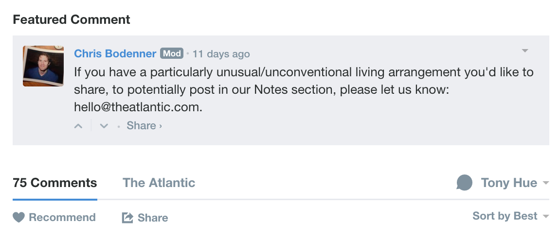 Closing the feedback loop with new Featured Comment ...