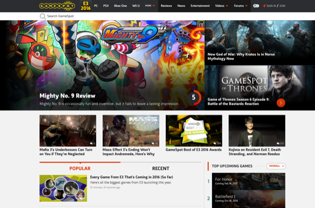 New Gaming Sites