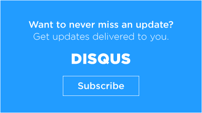 Subscribe to the Disqus Blog